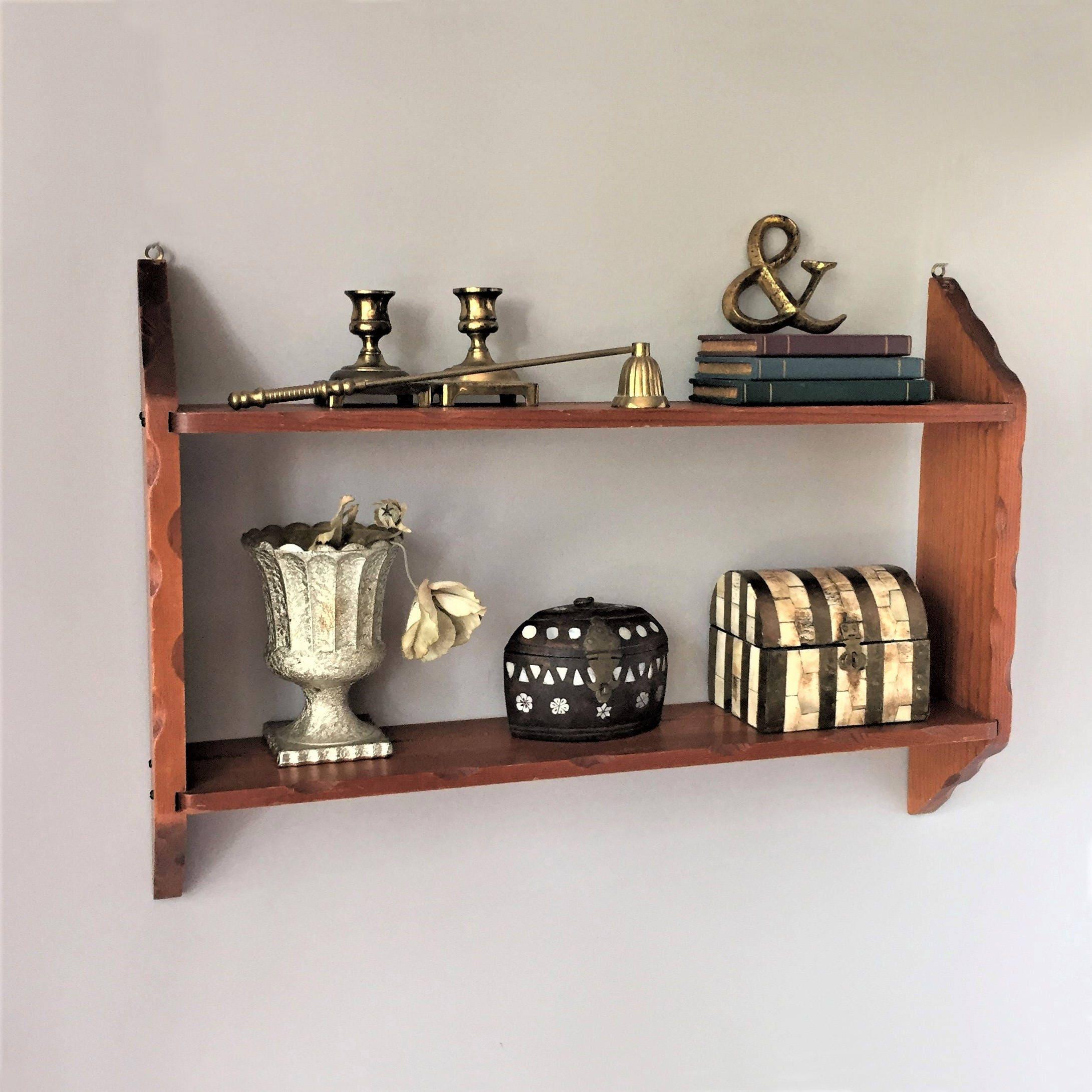 Plate Shelf Vintage Kitchen Shelf Wooden Display Shelf