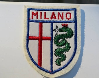 Vintage Milano Italy Embroidered Travel Patch