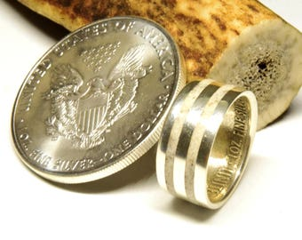 Irish deer antler wedding band engagement rings silver eagle ring