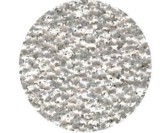 Edible Metallic Silver Star Glitter Sprinkles for cake, cookie, & confectionery decorating