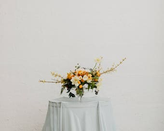 Romantic Chiffon Table Overlay (custom colors available)