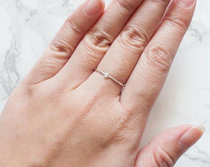 Sterling Silver Dainty CZ Ring