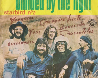 """MANFRED MANNS Earth Band Blinded by the Light 1976 Portugal Issue Rare 7"""" 45 rpm Vinyl Single Record Classic Rock Pop Blues 70s 5000029"""