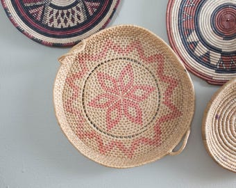 Vintage Coiled Basket Tray