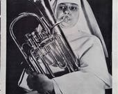 Nun's Orchestra College St. Mary of the Springs, Columbus OH Baritone (other side) Bass Drum French Horn Flute Trumpet Fun 1x10 Ready Frame