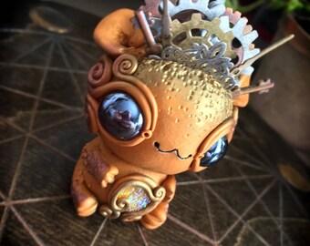Goulag the metal god // creature gold crown tentacle sculpture toy ooak designer art creepy