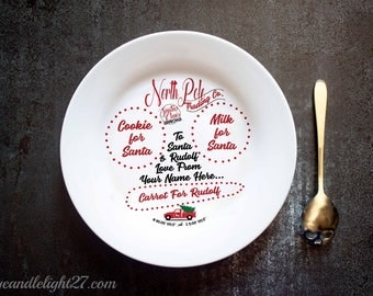 Santa Plate - Christmas Eve Plate - Custom Santa Plate - Father Christmas