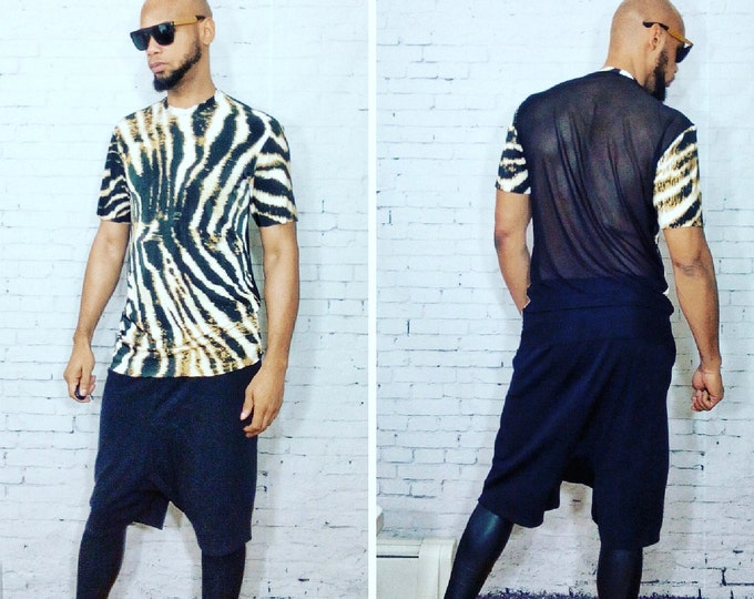 Animal Printed W/Mesh Back Inspired By- Givenchy,YSL,Balmain,DSquared2,MCM,Vesace, Dolce & Gabbana