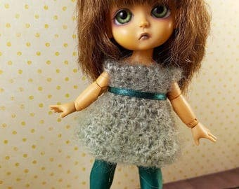 Babydoll Dress for Middie Blythe and Lati Yellow - Olive Green - Mohair