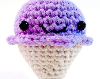 Purple Jules the ice cream cone keychain