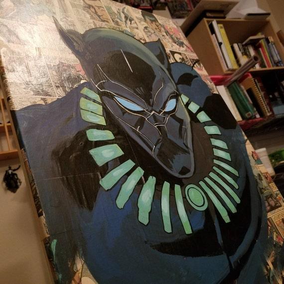 Black Panther Original Acrylic Painting