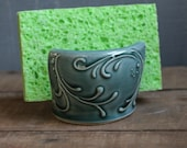 Sponge Holder, Teal Green, Mothers Day, Christmas, IN STOCK, ready to ship