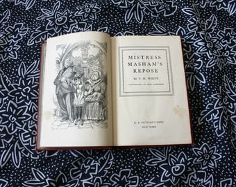 1946 Mistress Masham's Repose First Edition by TH White Antique Hardcover Vintage Book. Antique Classic Illustrated By Fritz Eichenberg