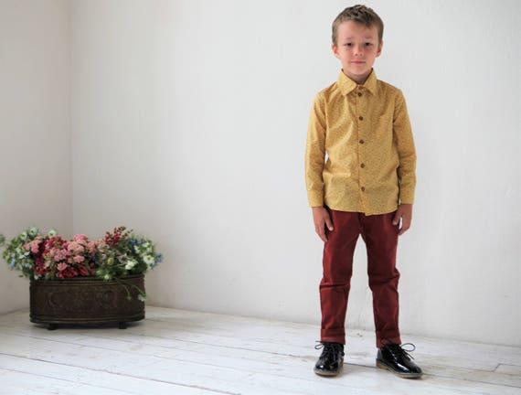 Jungen Kleid Shirt Kleinkind Jungen Langarm Hemd Liberty of