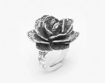"""Spoon Ring: """"Rose Flower"""" by Silver Spoon Jewelry"""