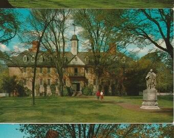 Colonial Williamsburg, Virginia Unused Vintage Postcards - Set of 3