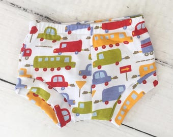 Cars Trucks Automobiles Bummies Shorties Shorts - Baby Toddler Boy