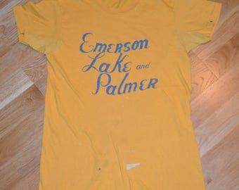 1974 EMERSON LAKE And PaLMER vintage rare concert tour original prog rock t-shirt ELP Medium (M) 70's 1970's tshirt tee GiFT