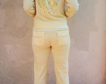 "Vintage Juicy Couture ""Surf Royalty"" Velour Sweatsuit - late 90's"