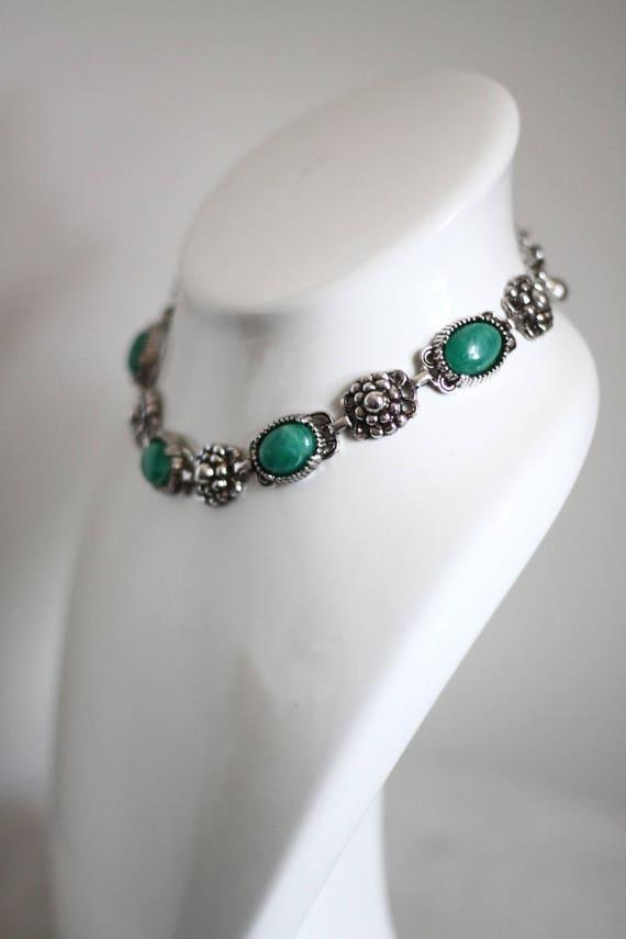 1950s silver floral necklace // 1950s Coro necklace // vintage jewlery