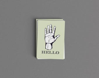 Hello Just Because Card or Print