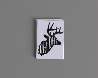Oh Deer Card or Print