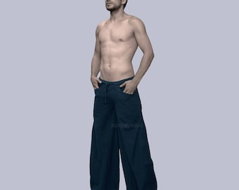 Baggy Pants - Wide Pants - Hippie - Men's Harem Pants