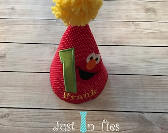 Elmo First Birthday Party Hat Personalized