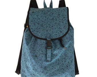 """Fabric backpack, backpack lapel, backpack lapel """"cowgirl"""", backpack"""