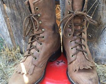 Brown Laredo Women's Roper boots size 6 1.2