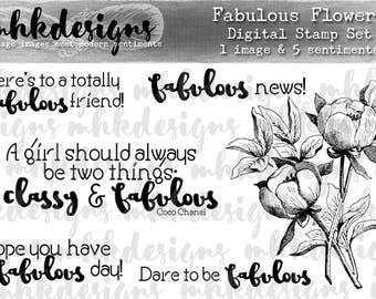 Fabulous Flowers Digital Stamp Set