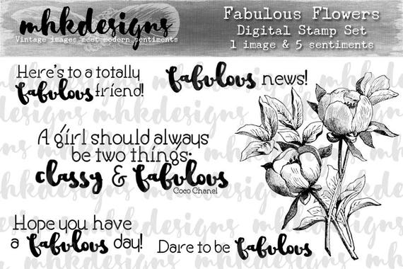 Fabulous Flowers Digital Stamp Set