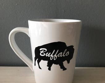 Buffalo NY Mug, Hand made, Unique Gifts, Buffalove Mug, 716 mug, Buffalo gifts, Hand crafted