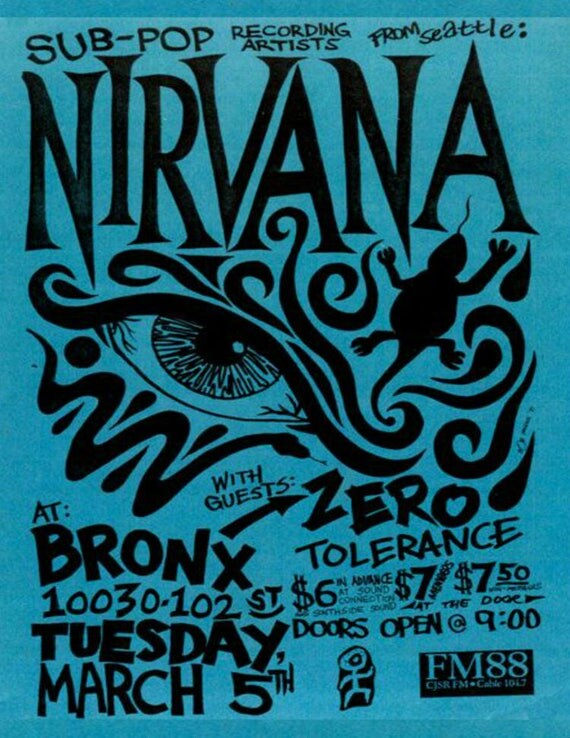 Nirvana Vintage Concert Poster Print Digital Download