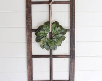 Farmhouse Window, Rustic Home Decor, Farmhouse Home Decor, Wall Decor, Faux Window Frame,