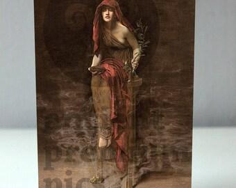 "Cards ""Hellas & Rome"" // Priestess of Delphi"