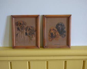 Pair of Mabel Gear embossed prints