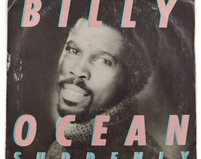 Vintage 80s Billy Ocean Suddenly Pop R&B Picture Sleeve 45-RPM Single Record Vinyl