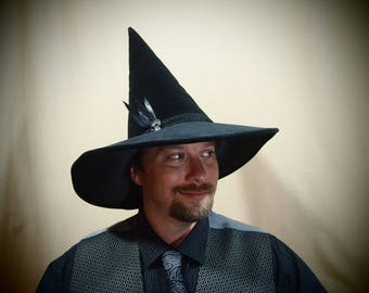 """Warlock Hat """"Lucius"""" One of a Kind"""