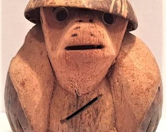 Coconut monkey bank