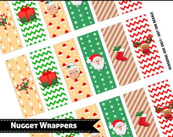 Hershey Nugget Wrappers, Christmas - Santa Set 20171, party favor,printable, download, personal use only
