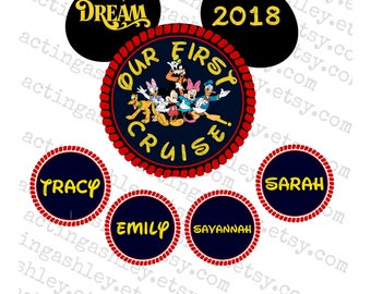 Our First Cruise Disney Door Magnet Set