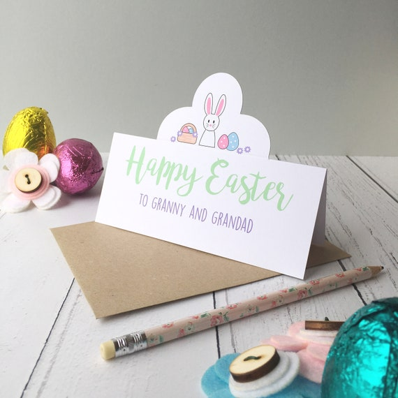 Easter bunny card - Personalised Easter card - Easter bunny - bunny card - First Easter