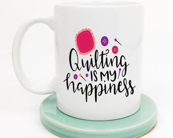 Quilting Mug, Gift for Quilter, Sewing Basket, Fabric Hoarder, Sewing Swag, Sewing Room Decor, Coffee Mug, Gifts under 20, Gift for Her