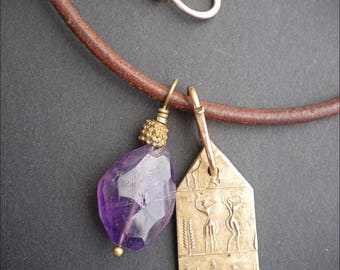 Amethyst Protective Amulet Necklace