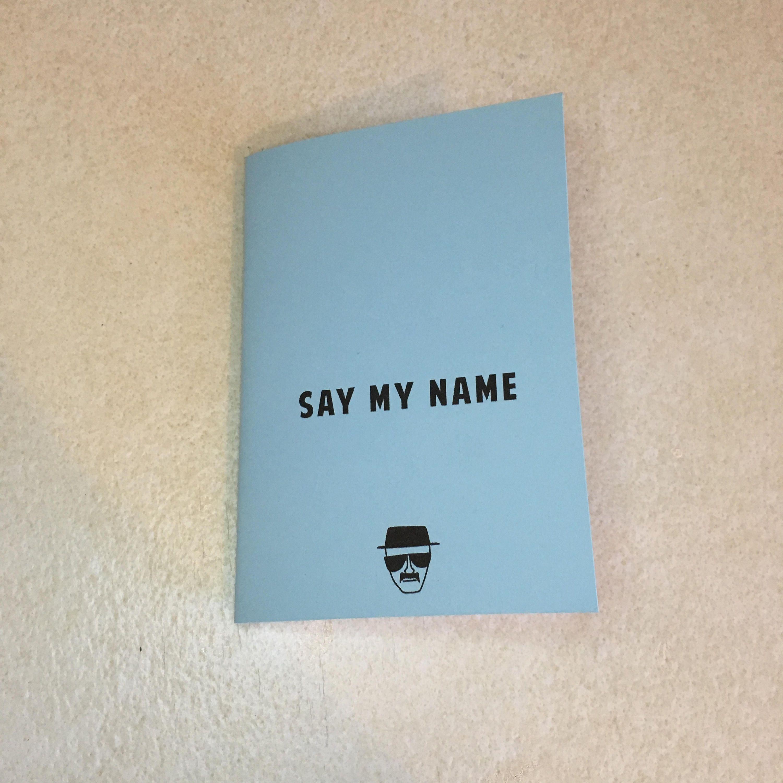 mini notebook say my name. Black Bedroom Furniture Sets. Home Design Ideas
