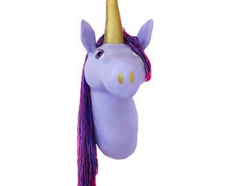 Taxidermy Unicorn, Faux taxidermy, unicorn head, unicorn lover, animal head nursery, unicorn nursery, animal head, unicorn gift, wall mount
