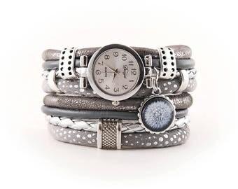 bracelet and a watch, cuff, stylish watch,dandelion