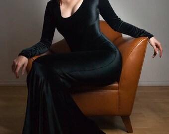 Velvet Morticia Dress