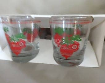 Vintage JC PENNY Holiday Glasses